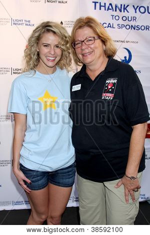 LOS ANGELES - OCT 6:  Linsey Godfrey, Olivia Gertz attends the Light The Night Walk to benefit The Leukemia & Lymphoma Society at Sunset Gower Studios on October 6, 2012 in Los Angeles, CA