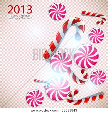 Merry Christmas and Happy new year 2013. Vector background