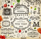 image of holly  - Christmas decoration collection  - JPG