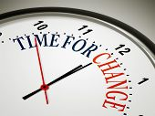 stock photo of count down  - An image of a nice clock with time for change - JPG