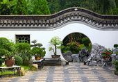 stock photo of house woods  - chinese garden - JPG