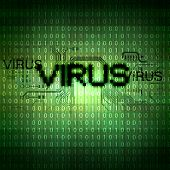 A computer virus detection symbol illustration with word Virus