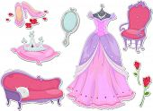 stock photo of dainty  - Illustration of Royalty Items That Can be Printed Out as Stickers - JPG