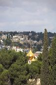 picture of church mary magdalene  - Christian Quarter in Jerusalem - JPG