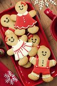 foto of gingerbread man  - Gingerbread men - JPG