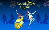 stock photo of rangoli  - illustration of people playing dandiya in navratri - JPG