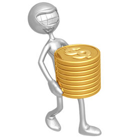 picture of holding money  - A Concept And Presentation Figure in 3D - JPG