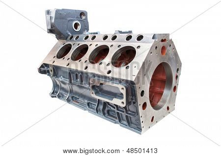 The image of cylinder block of car engine