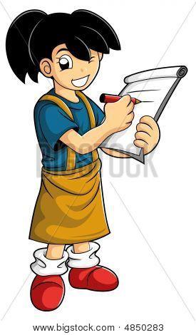 Smart Kid Make A Note