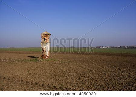 Wayside Cross In The Fields
