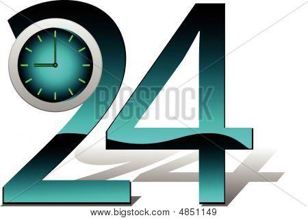Hours. Vector Illustration