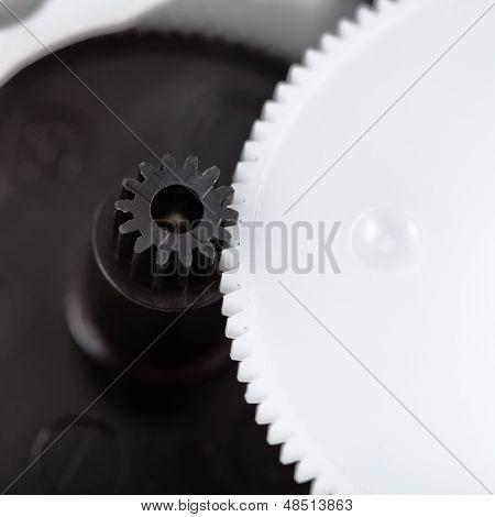 Plastic Gears Close Up