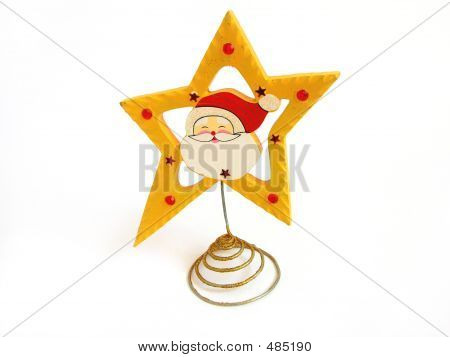 Santa Claus Christmas In Star Decoration