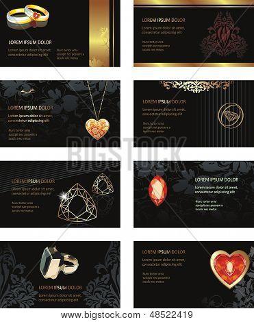 Cartão de visita de ilustração vetorial para jóias ou beleza