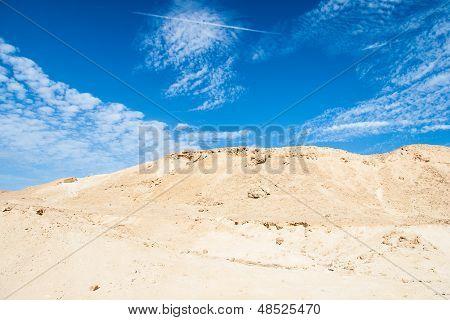Sand dunes and rocks, Sahara Desert