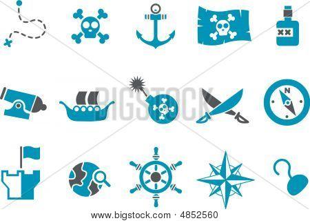 Conjunto de ícones do pirata