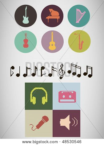 Pixel Music Icons.eps