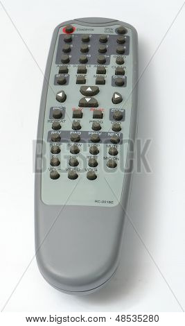 DVD player Remote control from the front