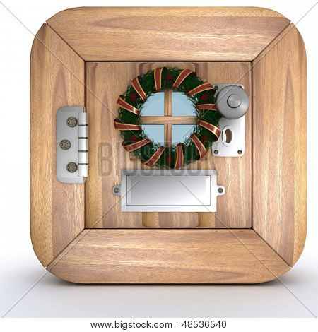 3d render of charicature of a door in icon format