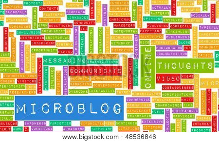Microblog Tool for an Online Microblogger Concept
