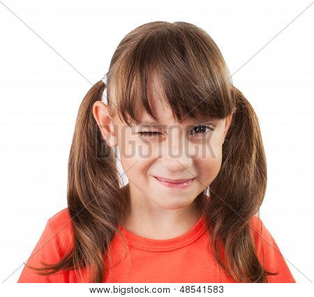 Little Girl  Winking Us