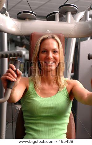 Pretty Woman In Fitness Center
