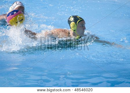 Jul 23 2009; Rome Italy; Brionwen Knox (AUS) competing in the women's preliminary round match waterpolo match between Australia and New Zealand in the 13th Fina World Aquatics Championships