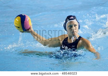 Jul 29 2009; Rome Italy; USA team player Heather Petri competing in the womens waterpolo semi final match between USA and Greece, USA won the match 8-7, at the 13th Fina World Aquatics Championships