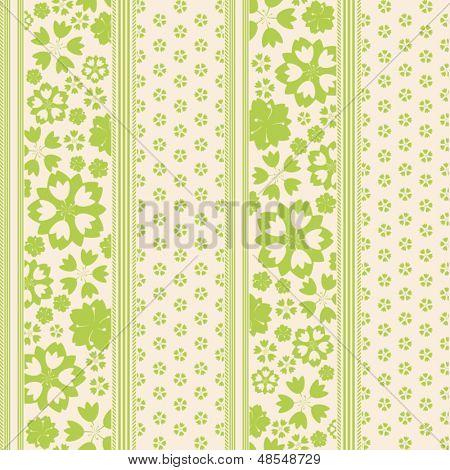 Pinstripe Garden Seamless Pattern