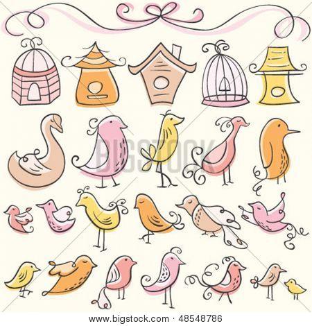 Doodle Bird Elements