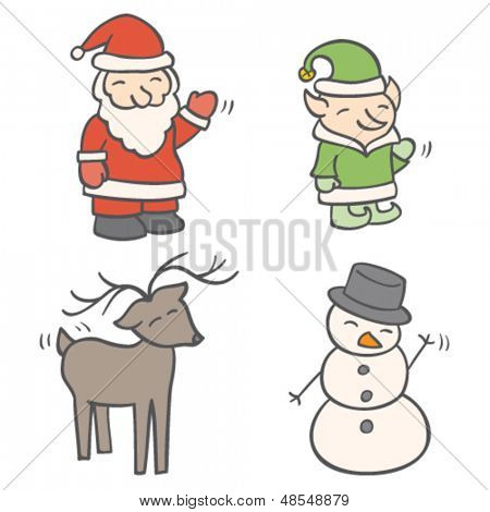Christmas Greeting Characters