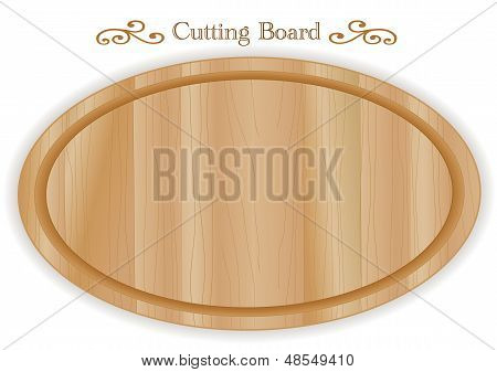 Wood Cutting, Carving, Cheese Board, , Oval