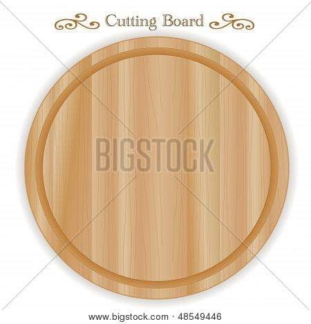 Wood Cutting, Carving, Cheese Board, Round