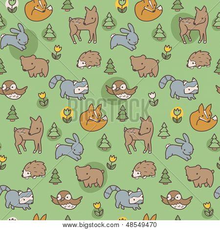 Woodland Meadow Pattern