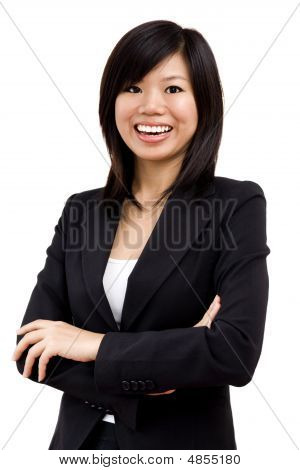 Cheerful Asian Business Women