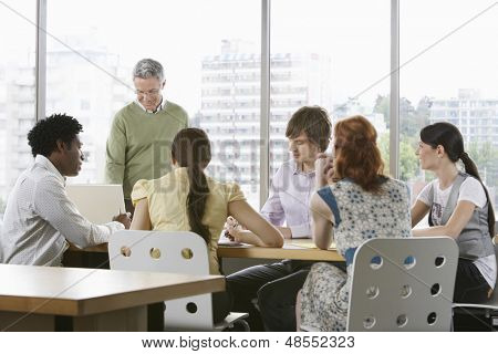 Group of multiethnic business colleagues at office meeting