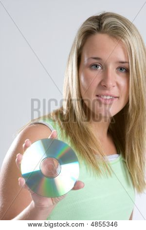 Woman Holds Dvd