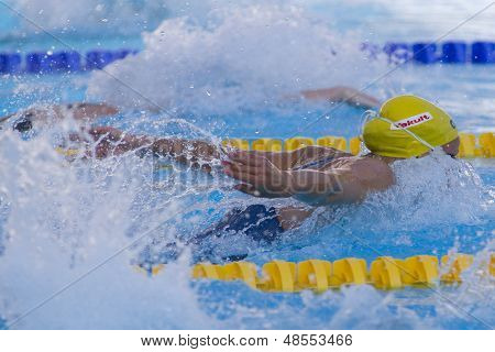 Jul 26 2009; Rome Italy; Jessica Shipper (AUS) competing in the womens 100m butterfly semi finals at the 13th Fina World Aquatics Championships held in the The Foro Italico Swimming Complex.