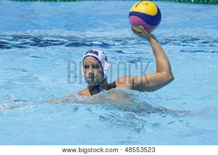 Jul 24 2009; Rome Italy; USA team player Peter Varellas competing in the preliminary round of the men's waterpolo at the 13th Fina World Aquatics Championships