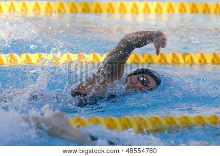 Jul 29 2009; Rome Italy; Dana Vollmer (USA) on her way to winning a bronze medal in the 200m freestyle final at the 13th Fina World Aquatics Championships held in The Foro Italico Swimming Complex.