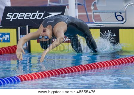 Jul 01 2009; Rome Italy; Elizabeth Beisel (USA) competing at the 13th Fina World Aquatics Championships held in the The Foro Italico Swimming Complex.