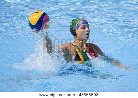 Jul 23 2009; Rome Italy; Laura Barrett (RSA) competing in the women's preliminary round match waterpolo match between Canada and South Africa in the 13th Fina World Aquatics Championships