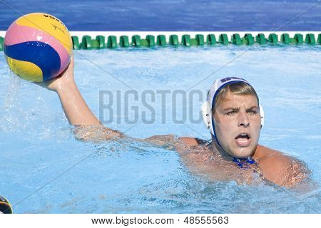 Jul 28 2009; Rome Italy; USA team player James Krumpholz competing in the mens waterpolo quarterfinal match between USA and Germany at the 13th Fina World Aquatics Championships