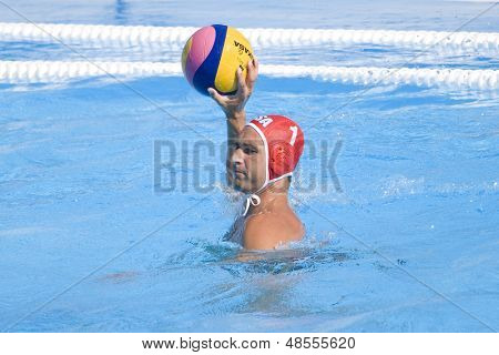 Jul 28 2009; Rome Italy; USA team player Merrill Moses competing in the mens waterpolo quarterfinal match between USA and Germany at the 13th Fina World Aquatics Championships