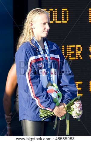 Jul 29 2009; Rome Italy; Dana Vollmer (USA) bronze medal winner in the womens 200m freestyle, at the 13th Fina World Aquatics Championships held in the The Foro Italico Swimming Complex.