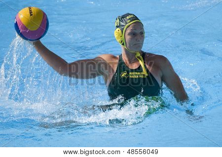 Jul 23 2009; Rome Italy; Melissa Rippon (AUS) competing in the women's preliminary round match waterpolo match between Australia and New Zealand in the 13th Fina World Aquatics Championships