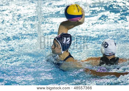 Jul 31 2009; Rome Italy; USA team player Kameryn Craig takes a shot at the goal during the final of the waterpolo tournament, USA won the match 7-6, at the 13th Fina World Aquatics Championships