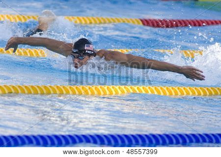 Jul 29 2009; Rome Italy; Michael Phelps (USA) competing in the mens 200m butterfly fina at the 13th Fina World Aquatics Championships held in the The Foro Italico Swimming Complex.