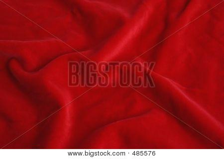 Tela de terciopelo rojo