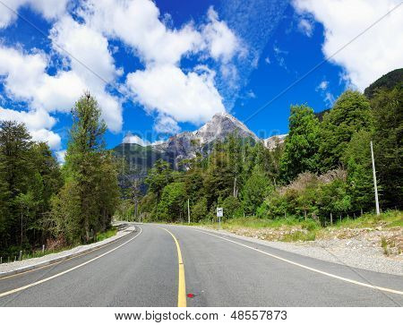 On The Road In Lago Las Torres National Reserve, Chile, South America